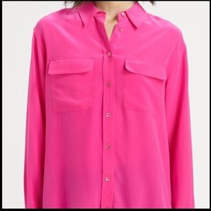 equipment signature silk shirt sz XS B2